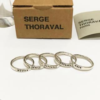 アッシュペーフランス(H.P.FRANCE)のSERGE THORAVAL 5連リング セルジュトラヴァル 五感 シルバー(リング(指輪))