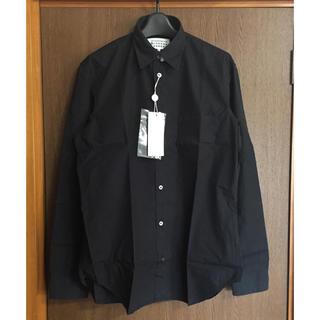 Maison Martin Margiela - 黒41新品 マルジェラ コットン 長袖シャツ 18SS