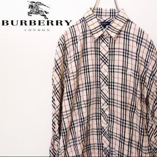 BURBERRY - フォロー割 美品 バーバリーロンドン ノバチェックシャツ ホース刺繍 超希少