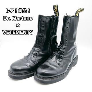 ドクターマーチン(Dr.Martens)の【美品】【送料無料】VETEMENTS × Dr. Martens 10ホール(ブーツ)