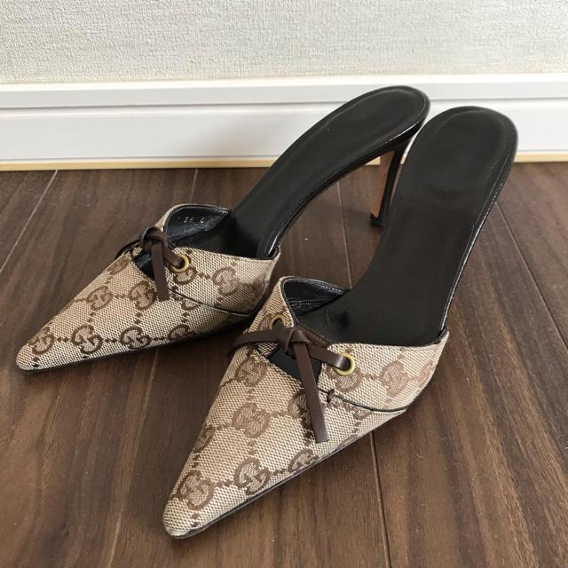 Gucci(グッチ)のGUCCI グッチ ミュール パンプス ハイヒール 35C レディースの靴/シューズ(ハイヒール/パンプス)の商品写真