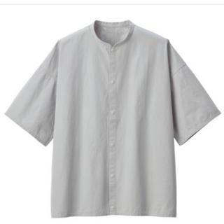 ムジルシリョウヒン(MUJI (無印良品))のmuji labo 綿ブロードスタンドカラー半袖シャツ(シャツ)