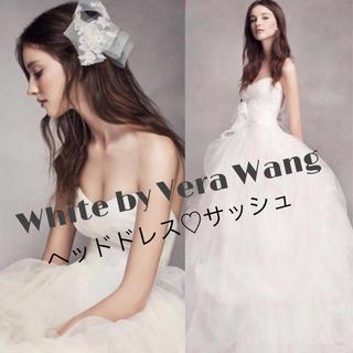 Vera Wang - White by Vera Wang♡レースサッシュとヘッドドレス♡リボン