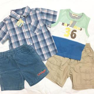 mikihouse - セット☆ 90 Tシャツ タンクトップ パンツ ミキハウス 保育園 新品 ☆