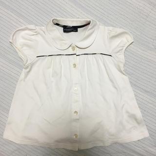 BURBERRY - バーバリー 半袖シャツ 襟付き 90 ホワイト マークあり ブラウス