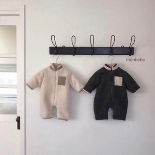 monmimi - 韓国子供服 monbebe ボア カバーオール