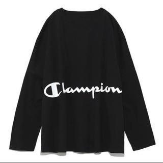 FRAY I.D - 【 FRAY I.D×Champion 】 バック プリント ロング Tシャツ