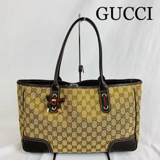 グッチ(Gucci)の極美品 GUCCI グッチ  リボン シェリーライン トートバッグ(トートバッグ)