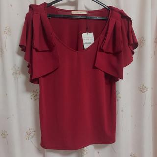 リュクスローズ(Luxe Rose)の新品未使用✩.*˚ 袖リボントップス luxe rose(シャツ/ブラウス(半袖/袖なし))