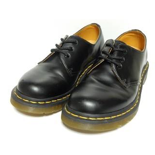 ドクターマーチン(Dr.Martens)の美品!【定価¥22680】ドクターマーチンUK4ブラック3ホール黒ブラック(ブーツ)