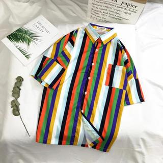 WEGO - ストライプ 柄シャツ 半袖