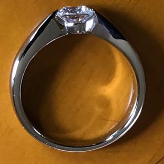 ステングレイス  CZ  ソリティア デザインリング 9号(リング(指輪))