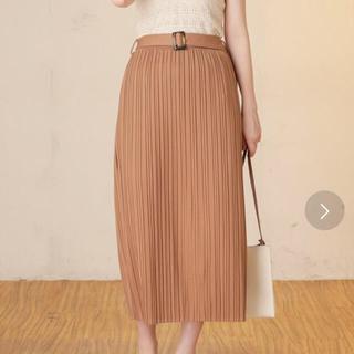natural couture - 今期新作☆natural couture ベルト付きカットプリーツスカート
