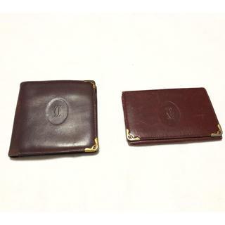 カルティエ(Cartier)の【正規品】Cartier カルティエ 財布 名刺入れ 2点セット(財布)