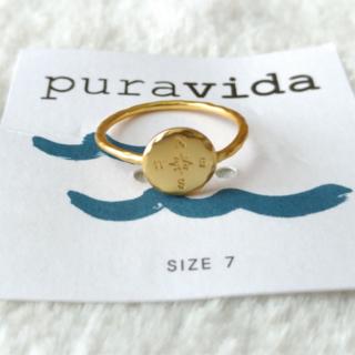 プラヴィダ(Pura Vida)のPura vida リング 指輪 コンパス US 7 ゴールド ロンハーマン取扱(リング(指輪))