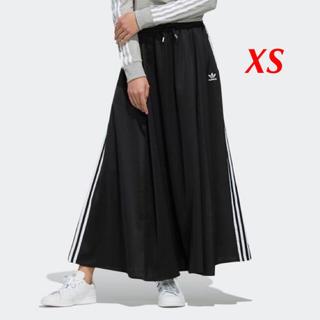 adidas - 【レディースXS】黒  ロングサテンスカート