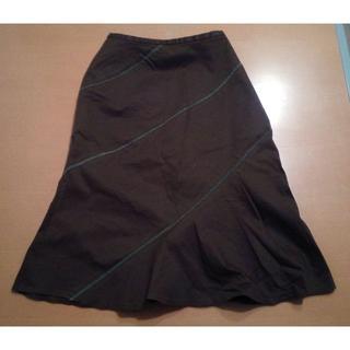 マーメイドスカート ブラウン 茶 61(ひざ丈スカート)