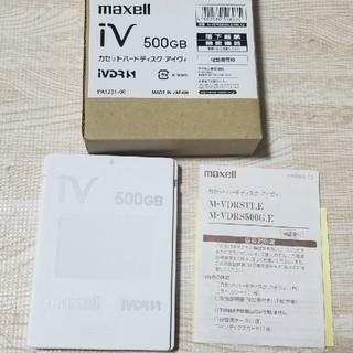 マクセル(maxell)のmaxell カセットハードディスク アイヴィ500GB(テレビ)