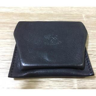 IL BISONTE - イルビゾンテ イタリアンレザー  小銭入れ コインケース  財布 黒 ブラック