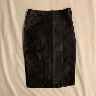 ディーホリック(dholic)のフェイクレザー タイトスカート(ひざ丈スカート)