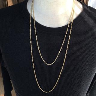 ゴールド チェーンネックレス 2set 60cm&70cm(ネックレス)