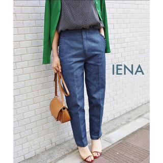 IENA - 極美品⭐️IENA/イエナ クロップドパンツ ネイビー