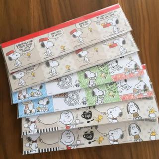 スヌーピー(SNOOPY)のスヌーピー かわいい付箋 6点(ノート/メモ帳/ふせん)