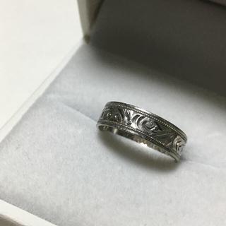 プラチナ 彫り細工 ヴィンテージリング(リング(指輪))