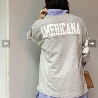 DEUXIEME CLASSE - 新品未使用 AMERICANA ボーイフレンド フットボールTシャツ グレー