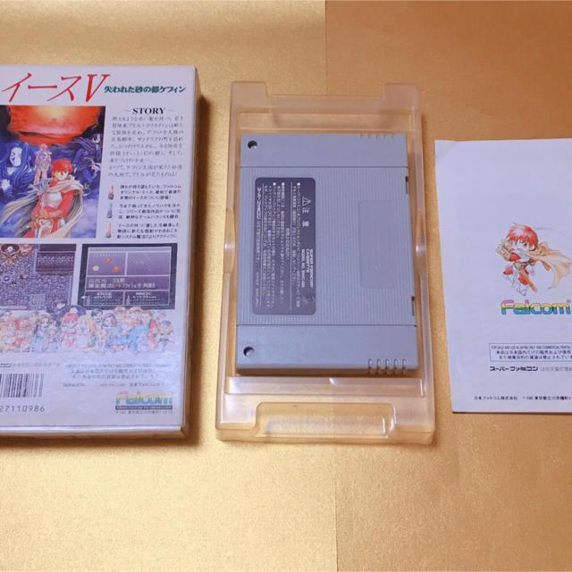 スーパーファミコン(スーパーファミコン)のイースV[SFC] エンタメ/ホビーのゲームソフト/ゲーム機本体(家庭用ゲームソフト)の商品写真