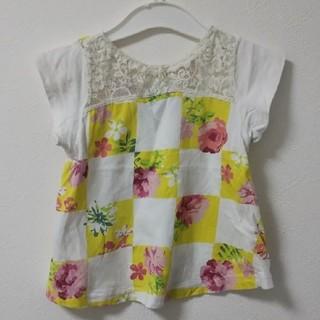 背中にレース♪アナスイミニ 花柄Tシャツ  90