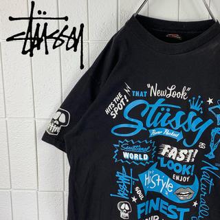 ステューシー(STUSSY)のステューシー レアカラー ゆるだぼ 90s デカロゴ 半袖 Tシャツ 可愛い(Tシャツ/カットソー(半袖/袖なし))