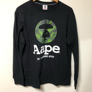 A BATHING APE - エーエイプ AAPE AAPLTM2694XX7 フロントロゴ長袖カットソー