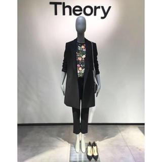 セオリー(theory)のTheory 18SSロングジャケット(ノーカラージャケット)