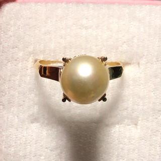 k18 18金 真珠 リング(リング(指輪))