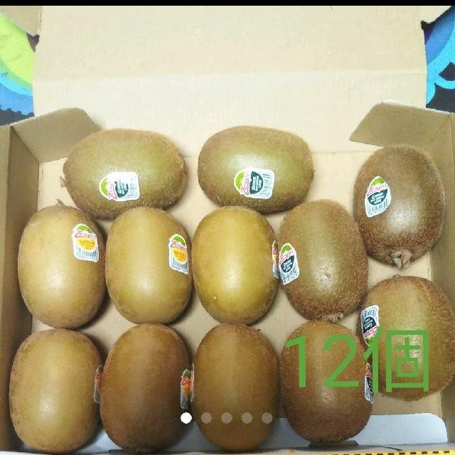 大玉 ゼスプリ サンゴールド グリーン キウイ 12個 可愛いポスター付き 食品/飲料/酒の食品(フルーツ)の商品写真