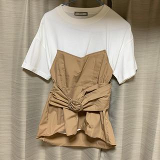 ジュエティ(jouetie)のjouetie ビスチェレイヤードTEE ホワイト(Tシャツ(半袖/袖なし))