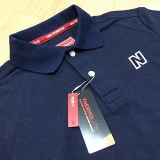 a809f5d70b87b ニューバランス(New Balance)のニューバランスゴルフ メンズ鹿の子ポロシャツ ネイビー紺 サイズ4 M
