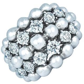ブシュロン(BOUCHERON)のブシュロン グランドレザンリング 12Pダイヤモンド 9号 指輪(リング(指輪))