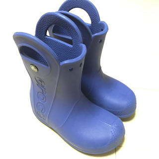 crocs - クロックス ハンドルイットレインブーツ C11 18cm ブルー 長靴 キッズ