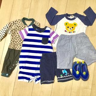ベビーギャップ(babyGAP)の70cm80cm男の子服まとめ売り 靴2足付き 合計16点(その他)