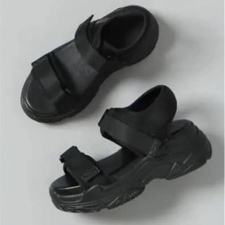 ジーナシス(JEANASIS)のJEANASIS ブラック Lサイズ スニーカーサンダル 新品未使用品(サンダル)