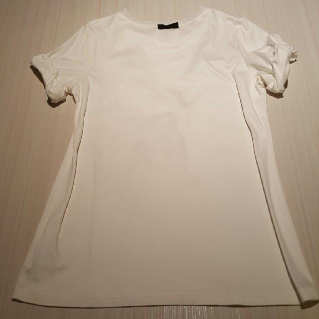 LANVIN en Bleu(ランバンオンブルー)のLANVIN en Bleu デザインTシャツ M レディースのトップス(Tシャツ(半袖/袖なし))の商品写真