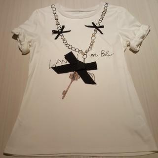 ランバンオンブルー(LANVIN en Bleu)のLANVIN en Bleu デザインTシャツ M(Tシャツ(半袖/袖なし))