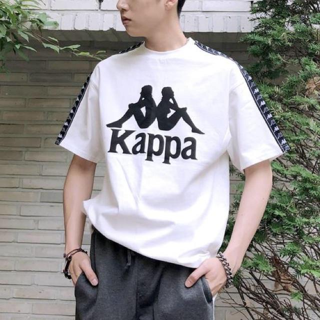 Kappa(カッパ)のKappa カッパ  ビッグシルエット 袖ロゴライン 1/2スリーブカットソー メンズのトップス(Tシャツ/カットソー(半袖/袖なし))の商品写真