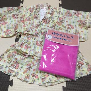 マイメロディ(マイメロディ)の新品!マイメロディ♡セパレート浴衣♡ゆかたドレス♡100(甚平/浴衣)