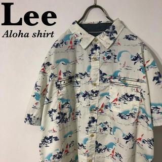 古着 Aloha Lee art design cotton 総柄 アロハシャツ