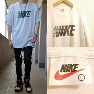 NIKE - 90's vintage NIKE フロントプリント 半袖カットソー/Tシャツ