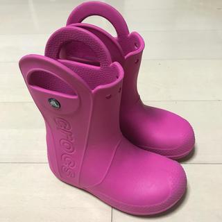 クロックス(crocs)のクロックス ハンドルイットレインブーツ C13 19cm ピンク 長靴 キッズ(長靴/レインシューズ)