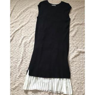 しまむら - 【しまむら】ワッフル×プリーツ裾キャミソールワンピース♡viviコラボ